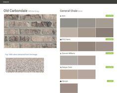 Savannah grey brick old savannah colonial collection exteriors pinterest grey cherokee - Breathable exterior masonry paint collection ...