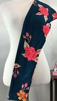 NEW Lularoe OS Navy Blue Hot Pink Yellow Cream Floral Flower Gorgeous Spring