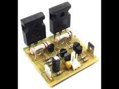 Virtuatec Eletrônica - Eletrônica profissional e hobby: Montagem do amplificador classe AB de 50W - Micro amplificador. Electronics Components, Diy Electronics, Electronics Projects, Hifi Amplifier, Class D Amplifier, Amplificador 12v, Componentes Smd, Switched Mode Power Supply, Power Supply Circuit