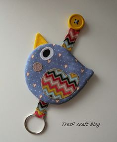 TresP craft blog: PAJARITOS LLAVERO