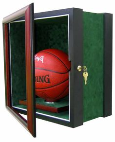 Sa Spurs Black Base Basketball Display Case W/ Mirrored Back Autographs-original Fanatics Extremely Efficient In Preserving Heat Sports Mem, Cards & Fan Shop