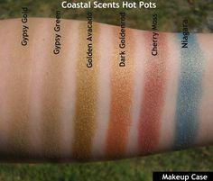Coastal Scents hot pot swatches Coastal Scents Hot Pots Swatches, Golden Makeup, All Things Beauty, Beauty Stuff, Best Drugstore Makeup, Makeup List, Beauty Magic, Makeup Swatches, Colorful Makeup