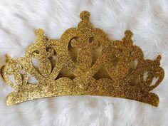 Pabellón de corona de princesa 3D incluye velos ¡Disponible en una variedad de colores para cualquier evento temático! o para su poco uno! Que tu pequeña princesa se sienta como un verdadero rey en su castillo (o su habitación) con este precioso oro Metal corona de decoración de la