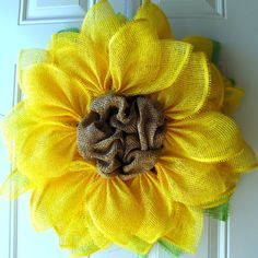 Yellow Sunflower Summer Fun Paper Mesh Indoor by NicoleDCreations