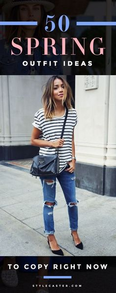50 Perfect Spring Outfit Ideas To Copy Right Now - click though for the ultimate guide to Spring fashion, straight from top bloggers and street style stars| StyleCaster.com #perfect