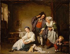 """Broken Eggs""  --  1756  --  Jean-Baptiste Greuze  --  French  --  Oil on canvas  --  The Metropolitan Museum of Art"
