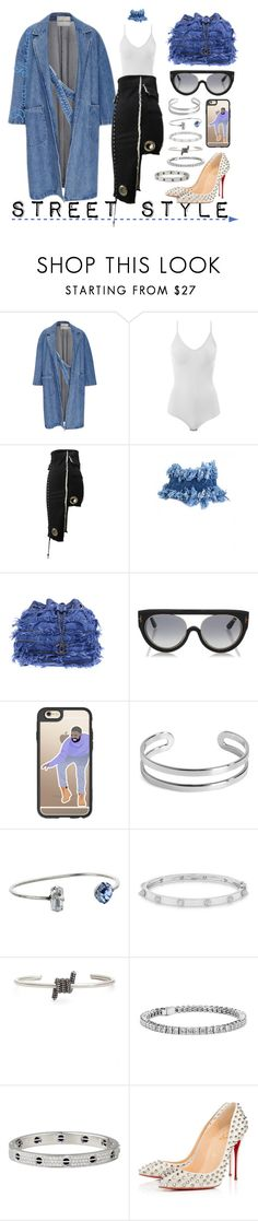 """Street Style"" by adswil ❤ liked on Polyvore featuring Sandy Liang, Intimissimi, Chanel, Tom Ford, Casetify, Maison Margiela, DANNIJO, Anne Sisteron, Marc Jacobs and Blue Nile"