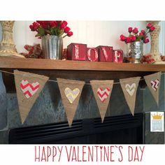 Valentines Banner Love Banner Heart Banner by QueensBanners