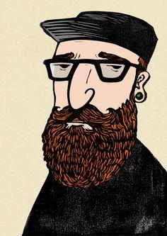 Hipster Beard Pedro Demetriou