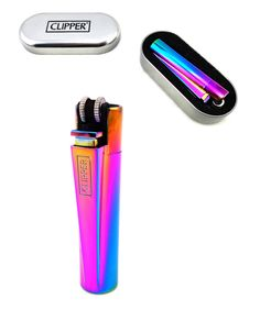 Briquet Clipper Métal Boîte Réglable Rechargeable ICY GAS Lighter | eBay