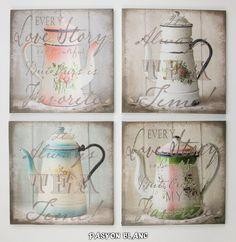 Pin von pasyon blanc auf pasyon blanc online shop pinterest amphore lilien und shabby chic - Wandbilder shabby chic ...