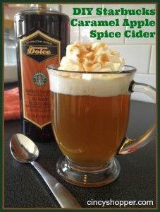 DIY Starbucks Caramel Apple Spice Cider - cincyshopper.com