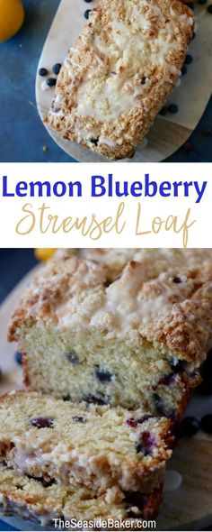 This delicious Lemon Blueberry Streusel Loaf is perfect for #breakfast, #brunch, dessert, or a snack! |  #streusel #lemonblueberry #lemon #blueberry #loaf | See more delicious recipes at TheSeasideBaker.com