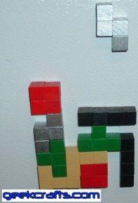 DIY Tetris Magnets by Brian via geekcrafts #Tetris_Magnets #DIY #geekcrafts- I want to make these!