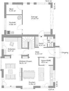 Wohn-/Essbereich größer, Aufteilung gut