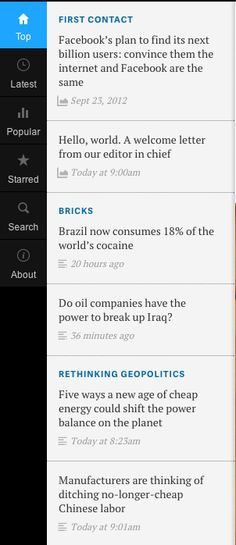 Vertical Navigation and Posts from Quartz