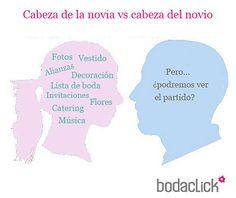 ¿Qué hay dentro de la cabeza de la novia? ¿Y del novio? #boda #risas