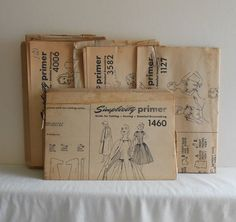 Estate Lot of 4 Womens Patterns UNCUT Vintage by filecutter, $5.75