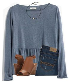 """64 question tag"" by ponyboysgirlfriend ❤ liked on Polyvore featuring Madewell, Abercrombie & Fitch, Report and country"