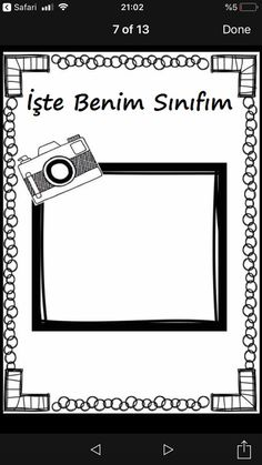 Turkish School, First Day Of School, Preschool, Letters, Writing, How To Plan, Education, Reading, Frame