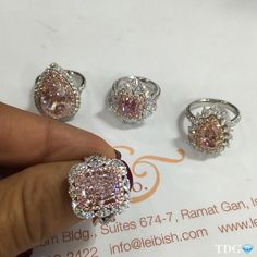 DECISIONS DECISIONS DECISIONS!!! When faced with @leibishandco fancy color diamond rings... it's impossible to choose!!! I'm holding a four carat perfect pink radiant diamond but honestly, I would be thrilled with any one of these four @leibishandco rings!!!