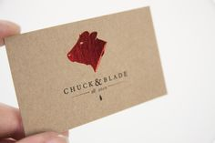 Chuck & Blade - love the shiny red foil on the cow