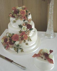 traditional wedding cake | Traditional Wedding Cakes - Autumn Flower Cascade