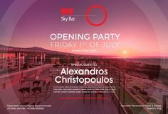 The party of the summer with the famous on the decks. Be there July at Red Sky Bar. Sky Bar, Hotel Suites, Minimal Design, Special Guest, Decks, Dj, Loft, Party, Summer