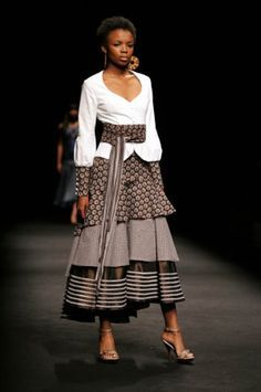 South African Fashion, African Inspired Fashion, African Print Fashion, Africa Fashion, African Fashion Dresses, Ethnic Fashion, African Prints, Girl Fashion, Xhosa Attire