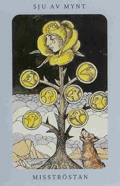 Swedish witch Tarot ( Jolanda Tarot ) 7 of Pentacles
