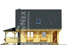 Jaskółka II - Domy drewniane letniskowe - DREWNEX Cabin, House Styles, Home Decor, Decoration Home, Room Decor, Cabins, Cottage, Home Interior Design, Wooden Houses