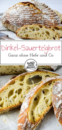 Reines Dinkel-Sauerteigbrot Simple recipe for a homemade spelled bread. Spelled bread is a pure sourdough bread. So the crust bread without yeast gets a better taste and stays longer lasting. Bread Without Yeast, No Yeast Bread, Sugar Bread, Sourdough Bread, Bread Baking, Easy Bread Recipes, Vegan Recipes Easy, Homemade Sandwich Bread, Sandwich Recipes