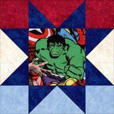 Hero Pack Hulk Iron Man Spiderman Quilt Kit Precut