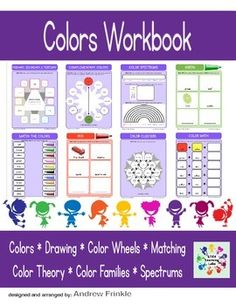 SUGGESTED GRADE LEVELS: PREK - GRADE 2This workbook contains over 40 tasks to help build knowledge about colors and color theory. It includes important basic art skills like:* Coloring Inside the Lines* Color Identification, Color Wheels, & Color Families* Complementary & Analogous Colors* Primary, Secondary, & Tertiary Colors* Warm, Cool, and Neutral Colors* Matching, Drawing, AND MORE!