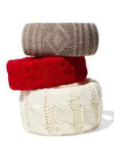 Knit-wrapped bracelets using old socks or sweater sleeves. As seen in @hgtv magazine.