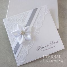 """68 Me gusta, 4 comentarios - Eternal Stationery ( en : """"These 5 petal ribbon flowers take an eternity to make by hand but are completely worth it! Handmade Wedding Invitations, Wedding Invitation Cards, Wedding Stationery, Floral Invitation, Shower Invitation, Handmade Invitation Cards, Corporate Invitation, Invitation Wording, Invites"""