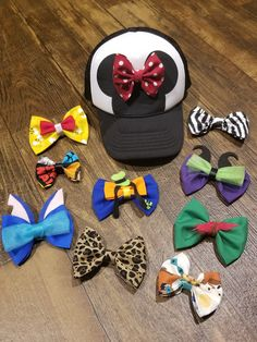 Swap My Bow Hat Interchangeable Bow Hat Minnie Hat Disney Disney Minnie Mouse Ears, Disney Mickey Ears, Disney Bows, Disney Hair, Disney Fun, Disney Style, Disney Inspired Fashion, Disney Fashion, Inspired Outfits