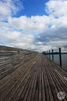 Prehistoric timber piles that date back to 1523 BC, were discovered next to the Seedamm.The first wooden footbridge led across Lake Zürich, followed by several reconstructions at least until late 2nd century AD when the Roman Empire built a 6 metres (20 ft) wide wooden bridge. Between 1358 and 1360, Rudolf IV, Duke of Austria, built a 'new' wooden bridge across the lake that was used until 1878. 2001 the reconstructed wooden footbridge was re-opened for the public. #swissspots