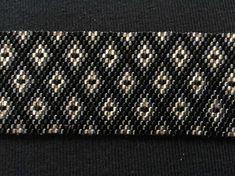 Bracelet perles Miyuki  modèle Losange anthracite
