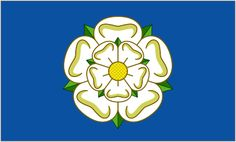 East Yorkshire, since 2013 England has been on a regular flag adopting spree lately. A new flag for the East Riding of Yorkshire was unveiled yesterday. It features a white York rose on a background. Yorkshire Sayings, Yorkshire Rose, East Yorkshire, Yorkshire England, England Uk, County Flags, Marriage Records, Tudor Rose