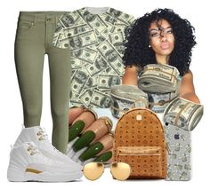 """""""moolah baby"""" by teralynn33 ❤ liked on Polyvore featuring MCM and Linda Farrow"""