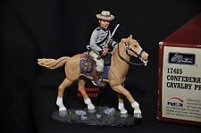 BRITAINS 17485 CONFEDERATE CAVALRY PRIVATE MOUNTED METAL TOY SOLDIER FIGURE NO.5