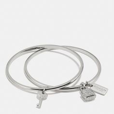 The Lock And Key Bangle Set from Coach