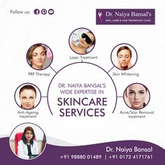 Best & permanent laser hair removal clinic in Chandigarh. Visit Dr Nayia's skin clinic which have top class skin specialist doctors & dermatologist Chandigarh Skin Specialist Doctor, Acne Scar Removal Treatment, Permanent Laser Hair Removal, Skin Clinic, More Words, Radiant Skin, Acne Scars