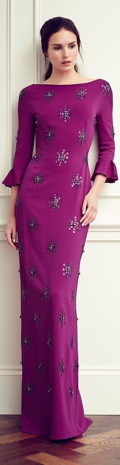 @roressclothes clothing ideas #women fashion @roressclothes clothing ideas #women fashion purple dress Jenny Packham Resort 2015 Love the color and the sleeves.