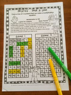 players have to find a line of 3 numbers that will make a multiplication equation