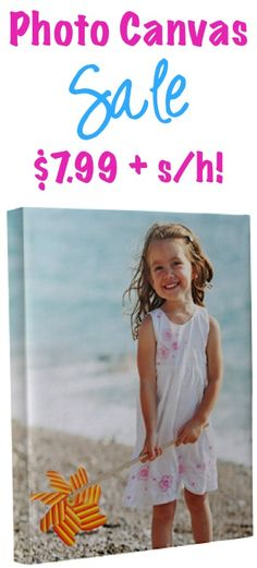 Custom 8x10 Photo Canvas Sale: $7.99 + s/h!! {make one for your home, or give one as a special gift!}