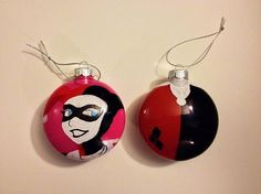 Harley Quinn DC Gotham Christmas Ornaments by NerdsNCrafts on Etsy, $18.00