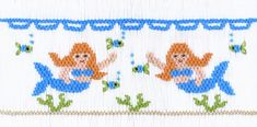 """Mermaids Playground"" Smocking Plate by Crosseyed Cricket"