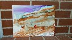 Alcohol ink abstract by Cheri Christenson